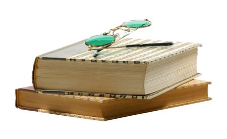 Photo of Books and Eyeglasses - Library Related