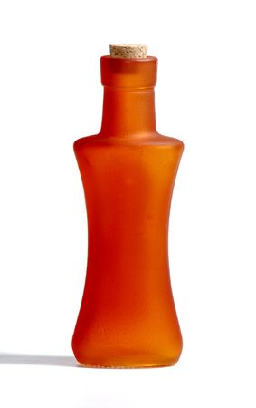 Photo of a Vintage Orange Bottle