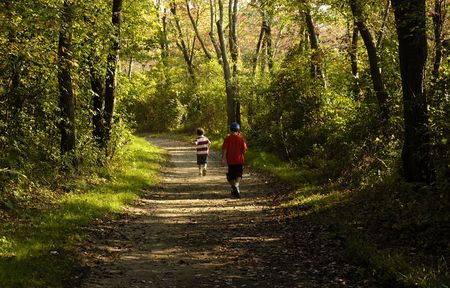 Photo of 2 Boys on a Nature Path - Outdoors