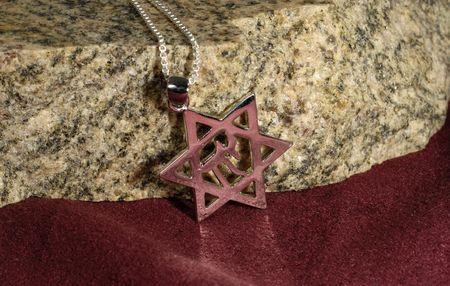 Foto de un judío Chai Necklace - Religión relacionados  Foto de archivo - 1861396