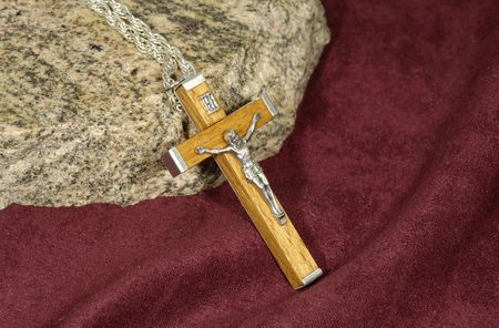 Photo of a Wooden Crucifix Necklace - Religion Related