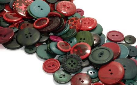 Photo of Various Red and Green Buttons - Background