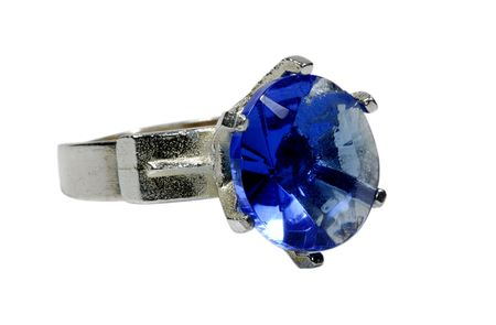 Photo of a Ring With Blue Gem