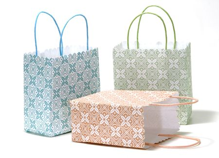 Photo of Various Color Shopping Bags - Gift Bags Stockfoto