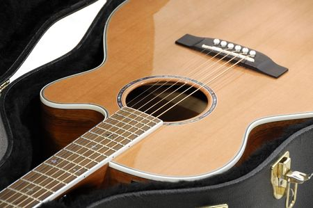 Photo of an Acoustic Guitar in a Case