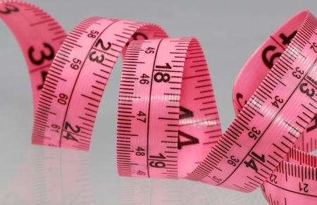 Photo of a Pink Tape Measure - Everyday Item Stockfoto