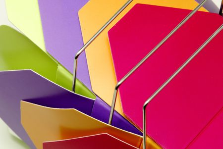 Photo of Various Color Take Out Cartons - Background Stockfoto