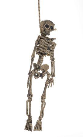 Photo of a Hanging Skeleton - Halloween Decoration Stockfoto