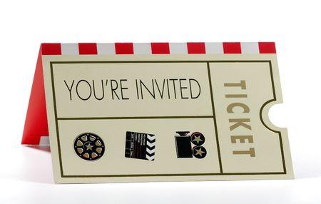 Foto de una invitación a un evento - Evento de objetos relacionados  Foto de archivo - 1922662