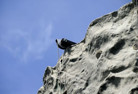 Photo of a Rock Wall With a Hoist - Background