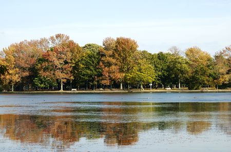 Photo of a Lake / Park in Autumn - Fall Landscape