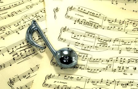 Photo of Sheetmusic With Musical Note - Sheetmusic Background