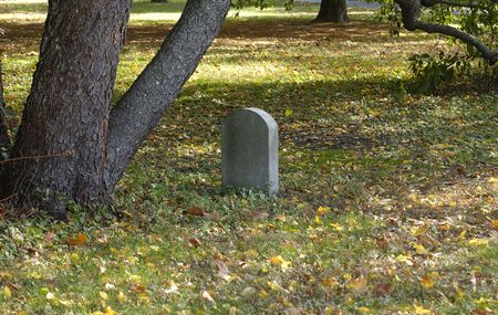 Photo of a Cemetary  Headstone - Outdoors Stock Photo