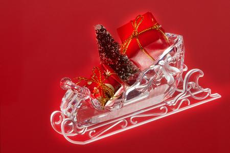 slide glass: Glass slides on red