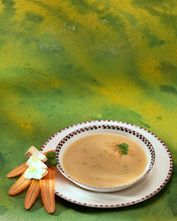 background green: Carrot soup
