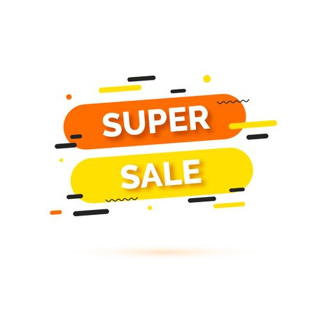 Sale banner, template for social media post promotion. Background with text space, abstract elements, black, orange and yellow color