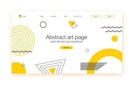 Abstract shapes background, banner for presentation, landing page, web site. 向量圖像