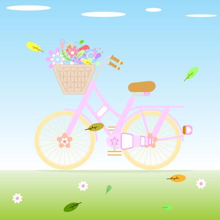 the vintage bicycle
