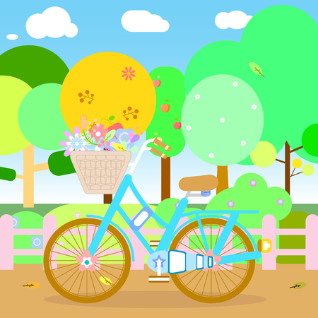 the park and bicycle