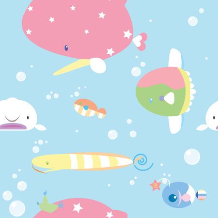seamless fish repeat pattern