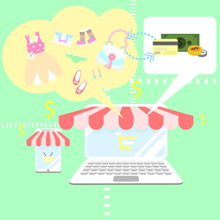 business online shopping Illustration