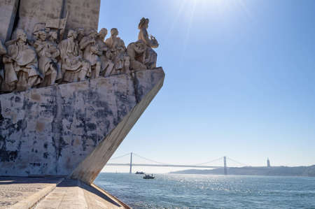 discoveries: Monument to the Discoveries in Lisbon - Portugal