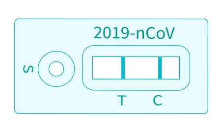Test result pandemic COVID-19. Concept of disease caused by the virus outbreak. Test result by rapid test device for coronavirus novel coronavirus 2019.