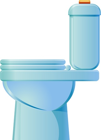Toilet side view Vector