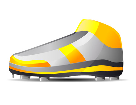 outsole: High cut baseball shoes