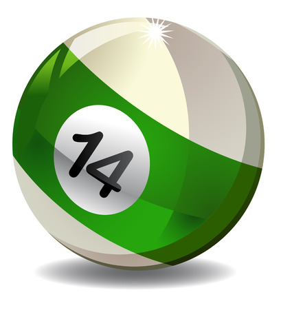 number 14: Number 14 billiard ball vector Stock Photo