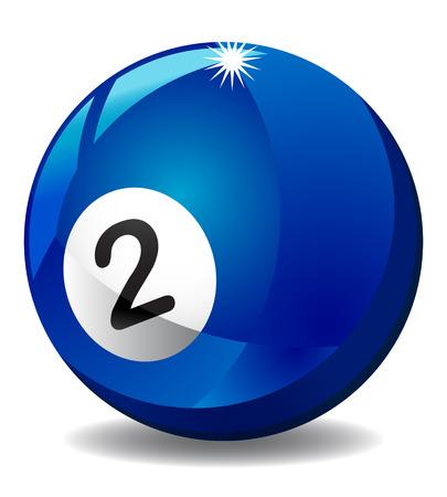 Number 2 billiard ball photo