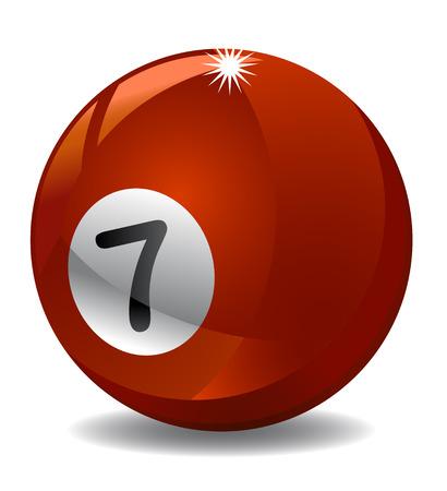 Number 7 billiard ball