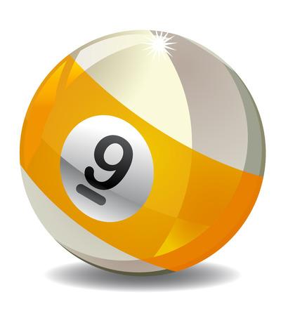 Nine 9 Ball vector icon