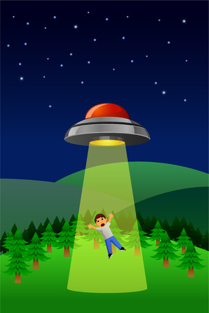 Alien Abduction vector photo