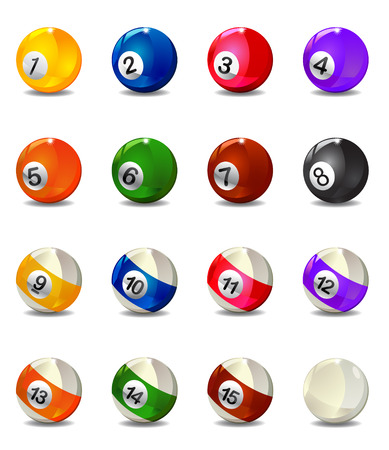 Complete Billiard Balls vector Stock Photo - 27944775