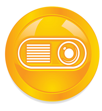 Projector button icon photo