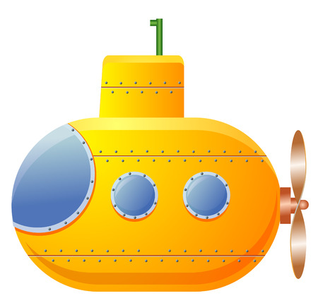Yellow submarine icon photo