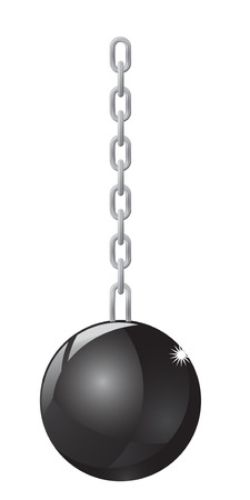 Hanging wrecking ball photo