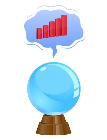 forecasting: Stock market business forecasting vector image Illustration