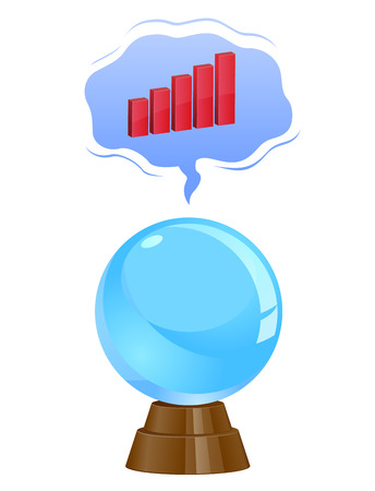 Stock market business forecasting vector image Illustration