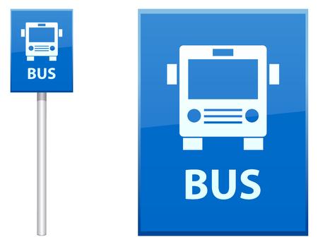 Przystanek autobusowy znak post ikon wektorowych Ilustracje wektorowe