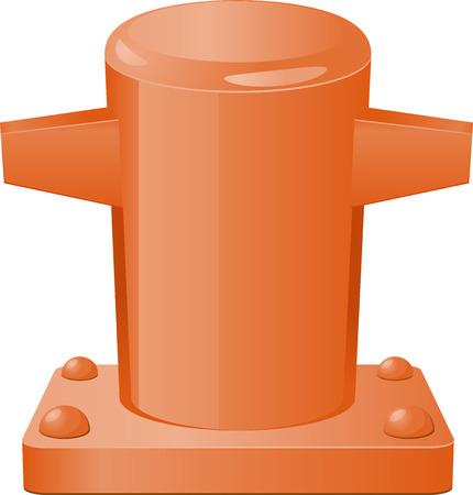 bollard: Pier bollard vector icon