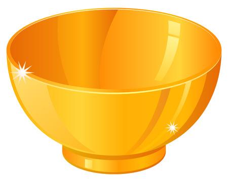 Gold bowl icon
