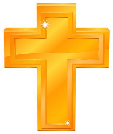 gold cross: Gold cross icon