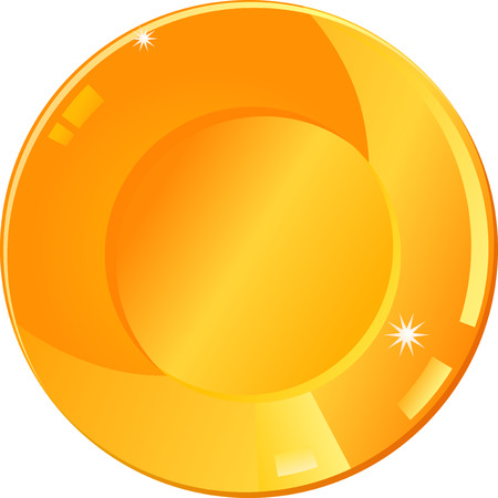 dinner plate: Gold dinner plate illustration