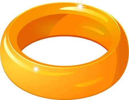 gold ring: Gold ring icon Illustration