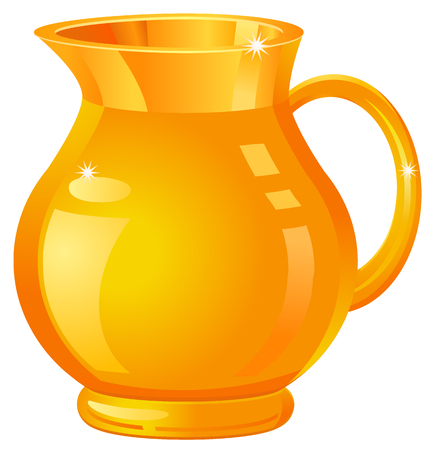 Gold vase or pitcher icon Imagens - 53834640