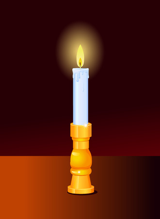 candle light: Candle light in the dark icon Illustration