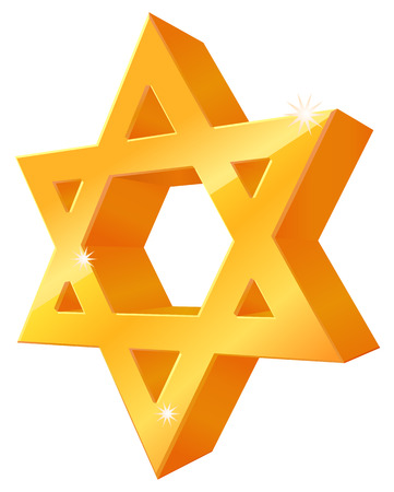 3d star: Gold 3D Star of David icon
