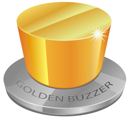 Golden buzzer icon Illustration
